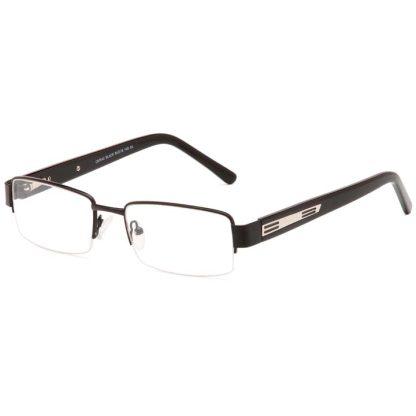 Carducci 7042 Black mens semi rimless prescription glasses online