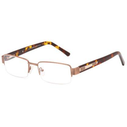 Carducci 7042 Bronze mens semi rimless prescription glasses online