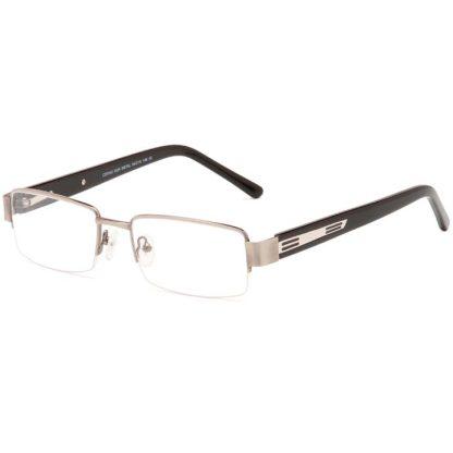 Carducci 7042 Gun mens semi rimless prescription glasses online