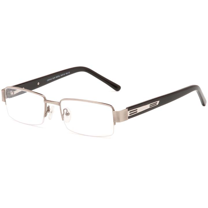 Carducci 7042 Gun mens semi rimless prescription glasses online