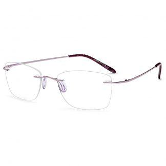 EMP7591 Purple rimless glasses